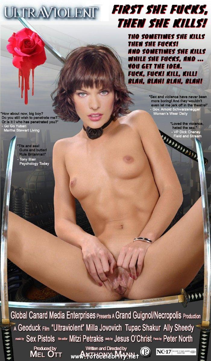 Celeb Milla Jovovich Fucked Fake Porn Pics