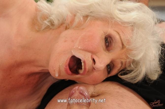 Порно старушек любящих сперму фото